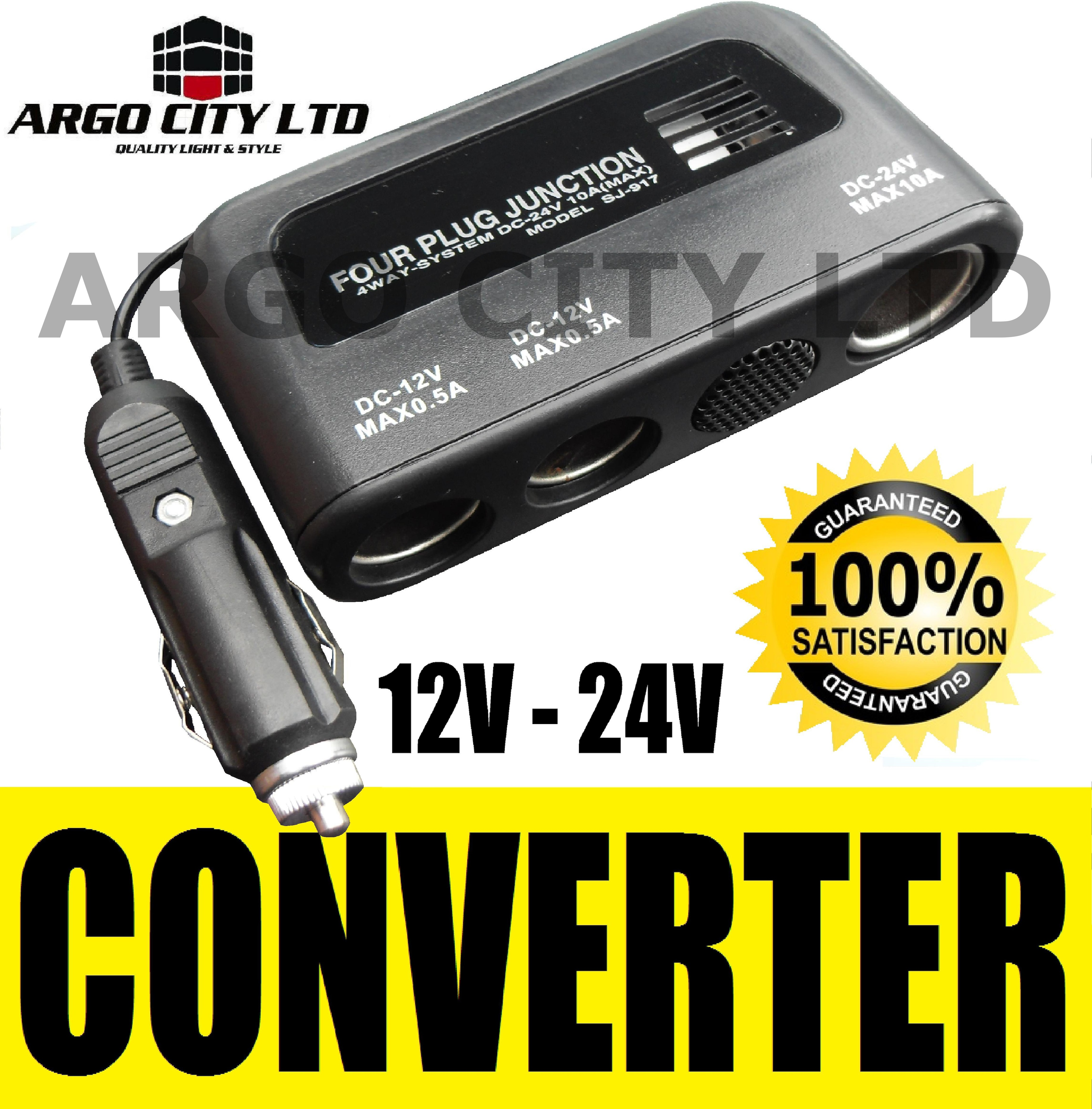 DC CONVERTER CAR VAN 12V 24V 4WAY CIGARETTE SOCKET PLUG BMW 3 SERIES COMPACT