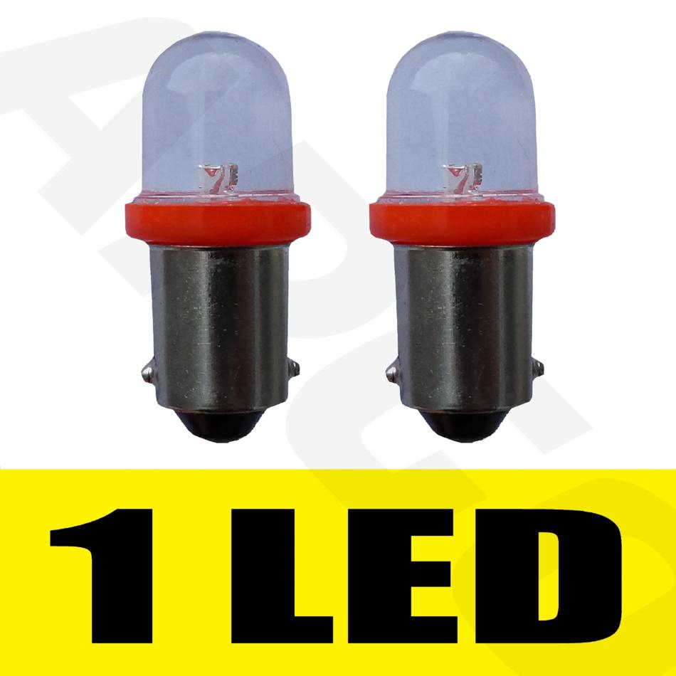 2 x 233 ba9s t4w led rouge feu lat u00c9ral ampoules x u00c9non