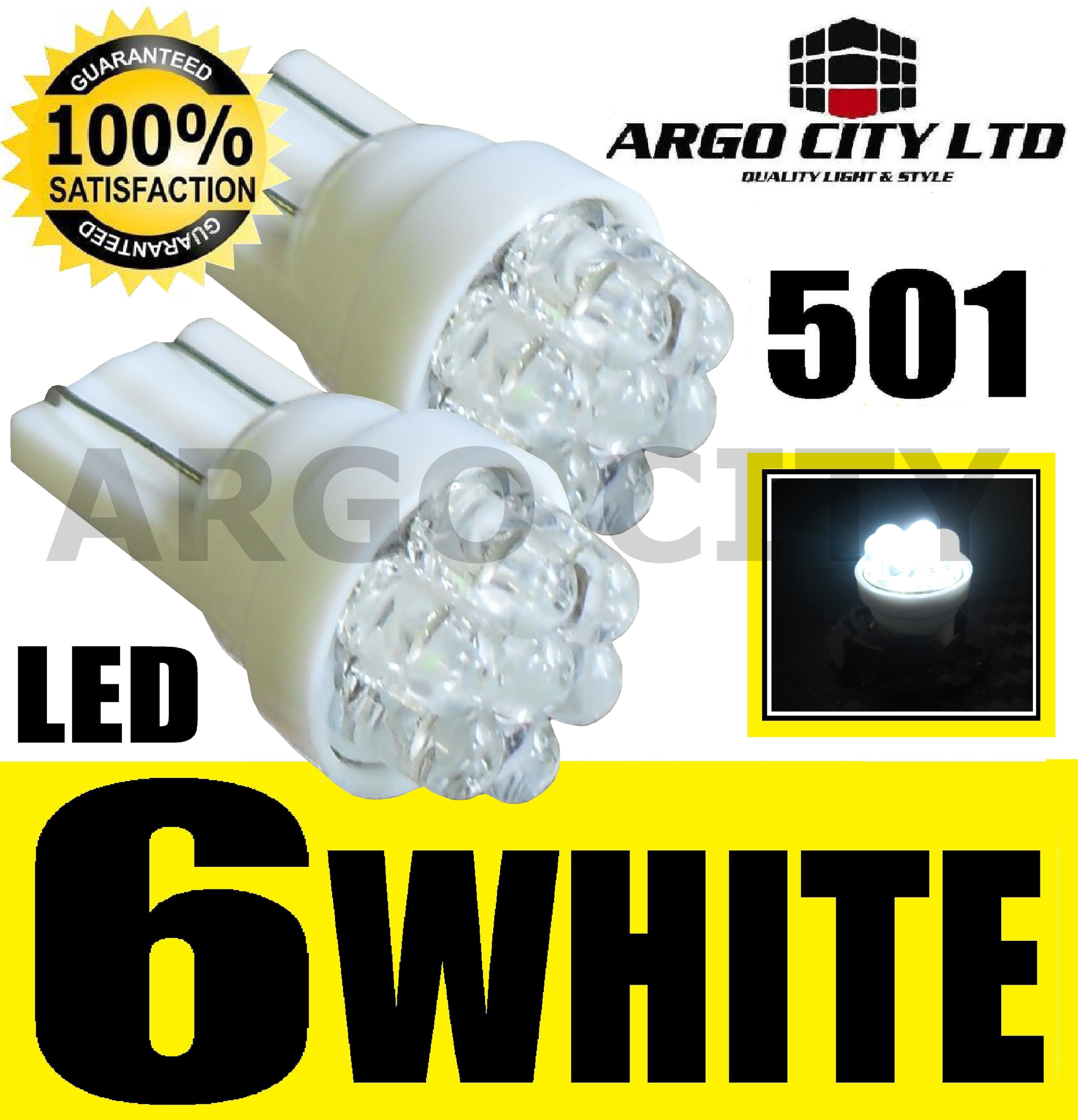 6 LED XENON WHITE 501 T10 W5W SIDELIGHT BULBS SUBARU LEGACY ESTATE