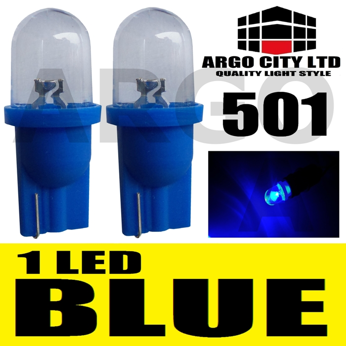 2 ULTRA BRIGHT LEDS T10 501 W5W SIDELIGHTS BULBS BLUE