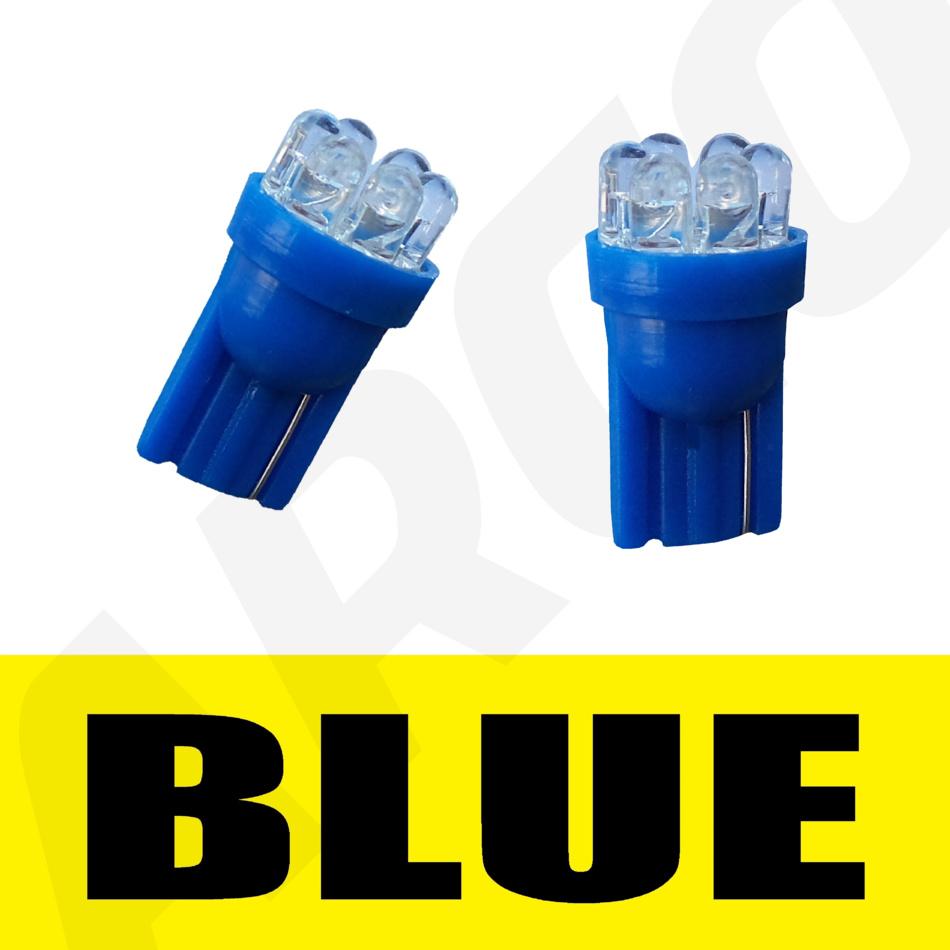 501 6 LED BLUE SIDELIGHT PARKING BULBS T10 W5W XENON