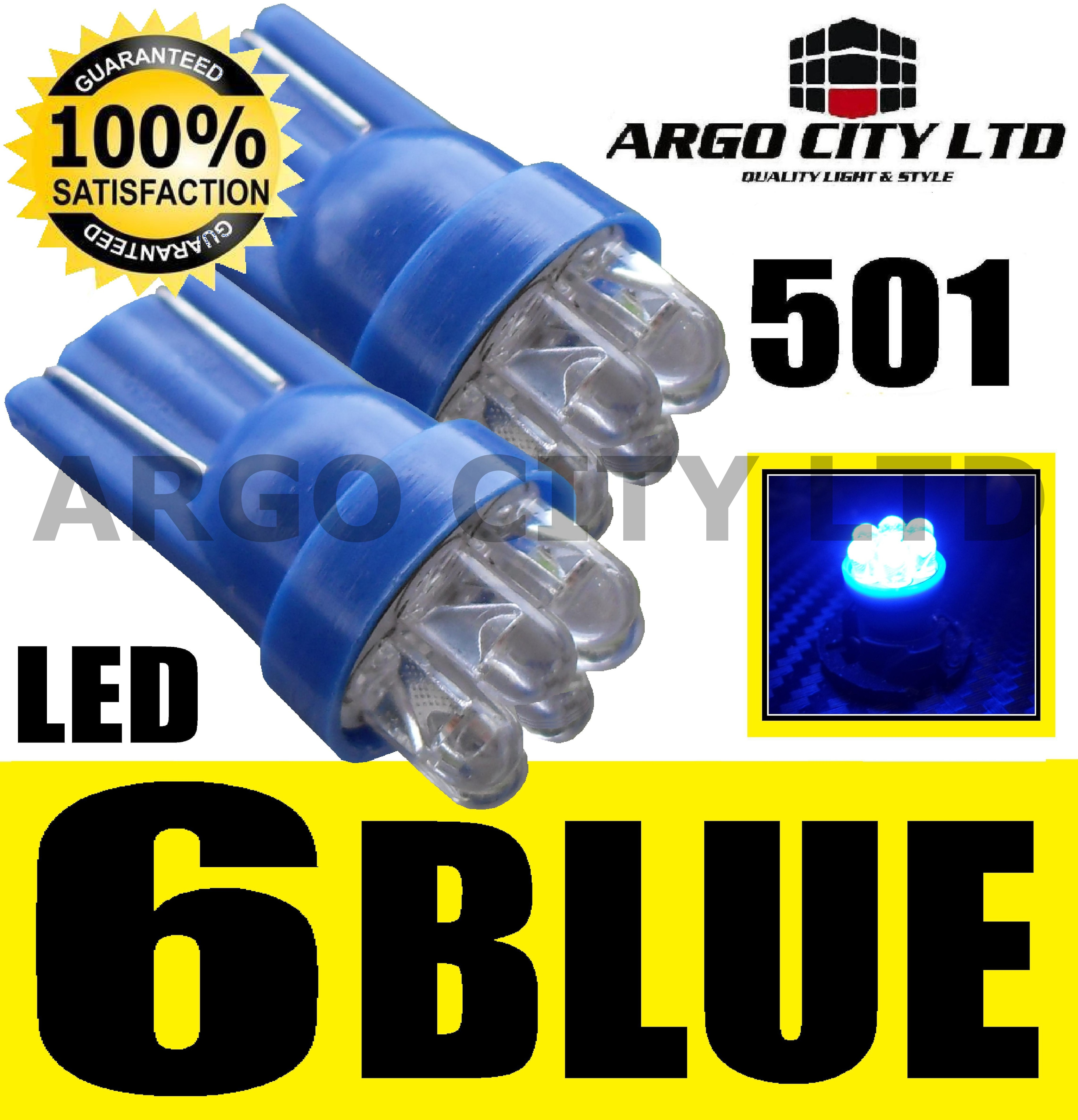 6 LED XENON BLUE 501 194 T10 W5W SIDELIGHT BULBS HYUNDAI GETZ