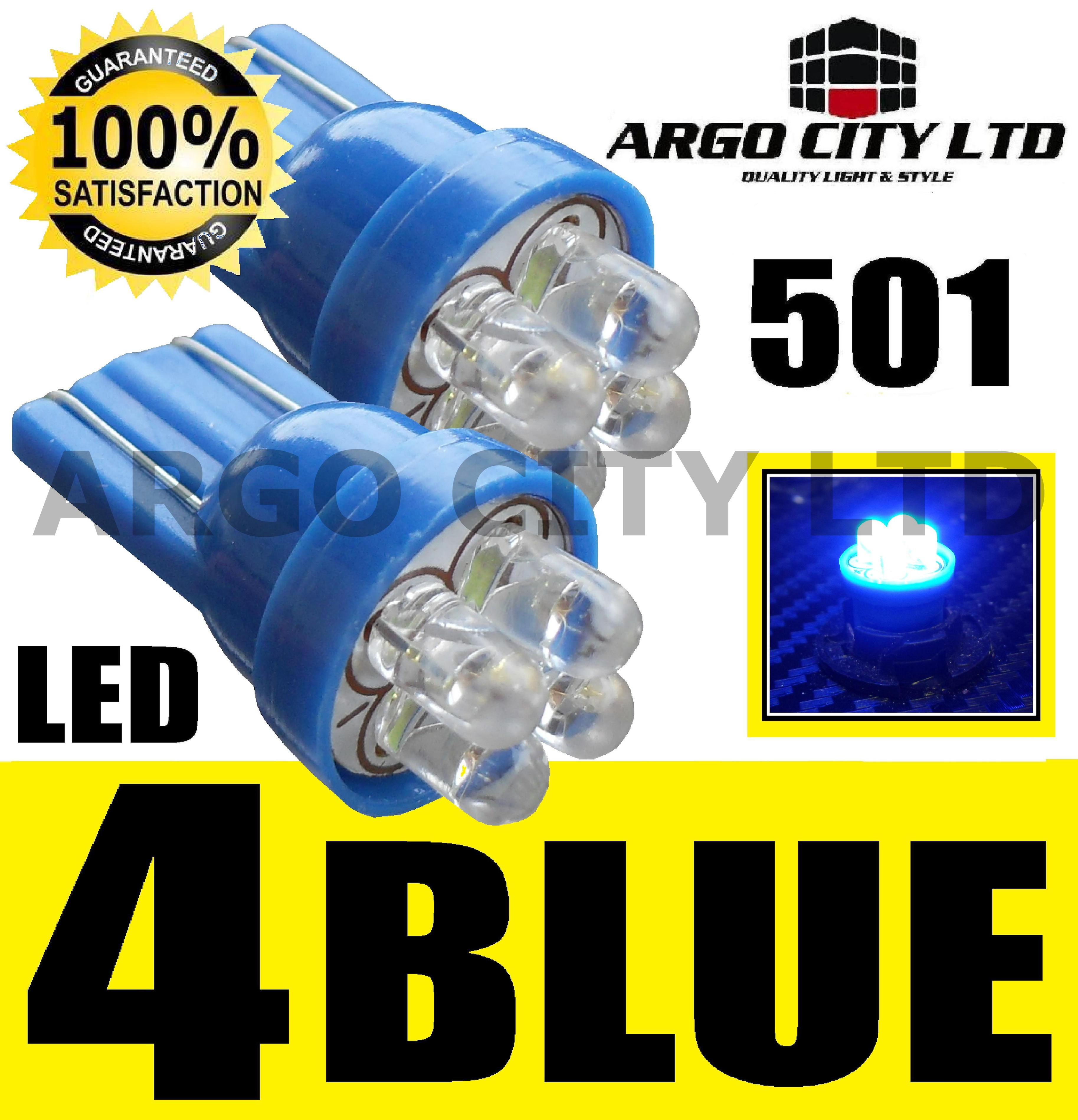 501 W5W QUAD 4 LED BLUE SIDELIGHT BULBS SWIFT SX4 IGNIS