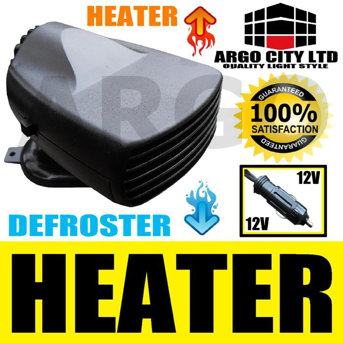 150W 12V CERAMIC CAR HEATER 2IN1 HOT & COOL FAN VAN
