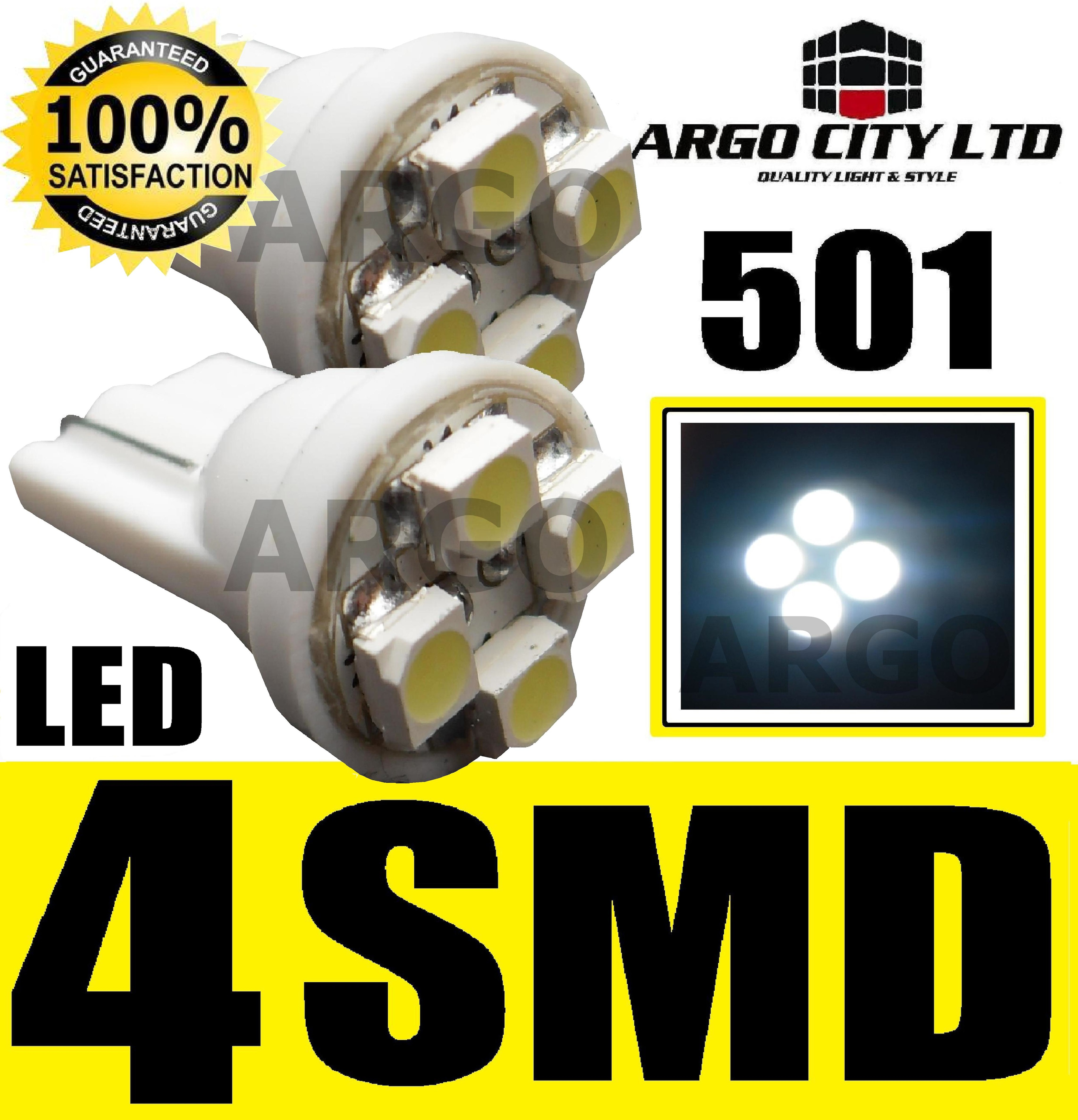 501 4 SMD LED WHITE BULBS SUBARU IMPREZA WRX FORESTER