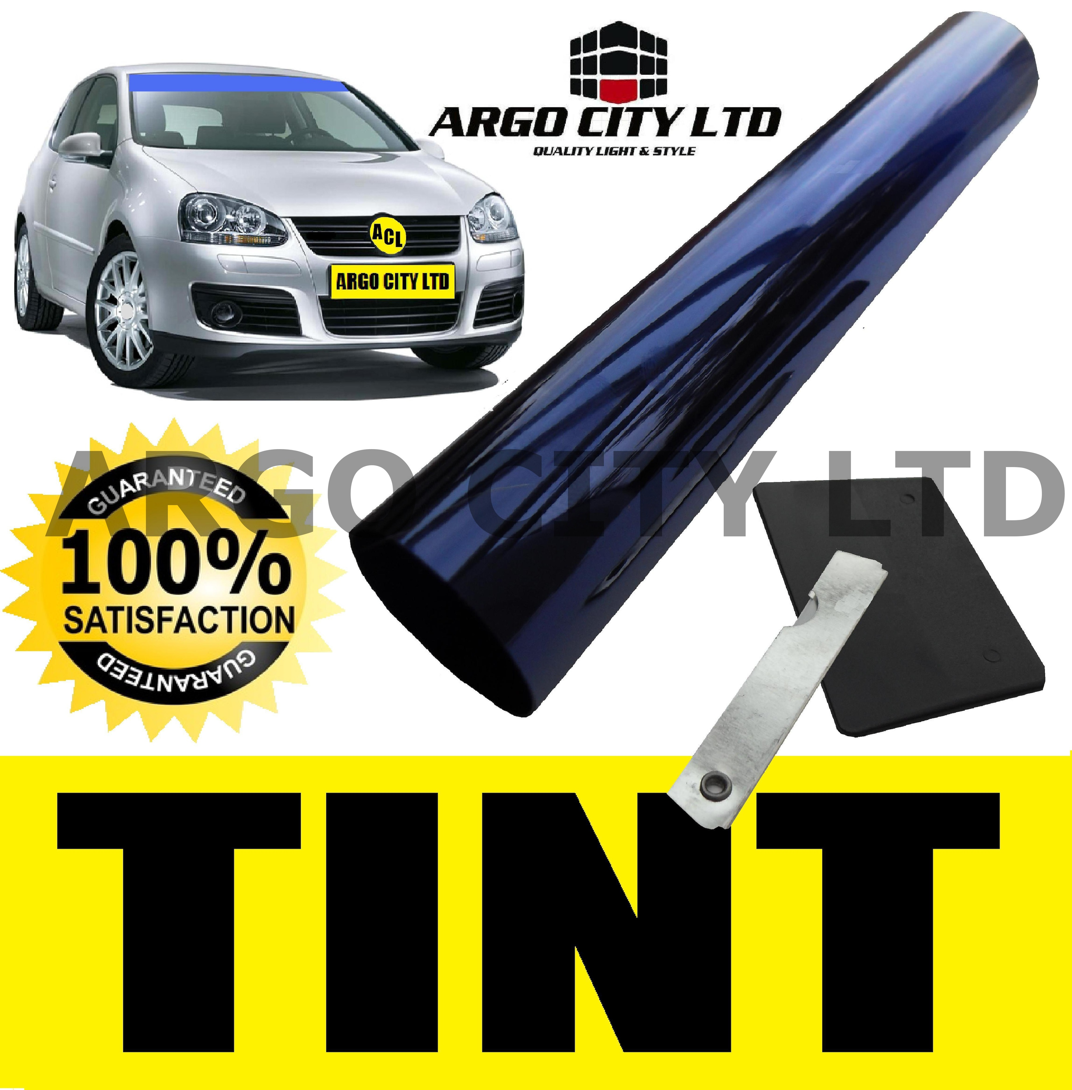 BLUE FADE WINDSCREEN SUN SHADE VISOR FILM TINT STRIP
