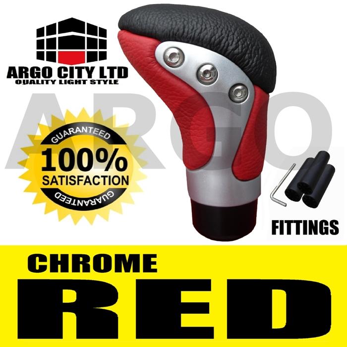 RED BLACK LEATHER GEAR KNOB ALFA ROMEO 156 159 164 166