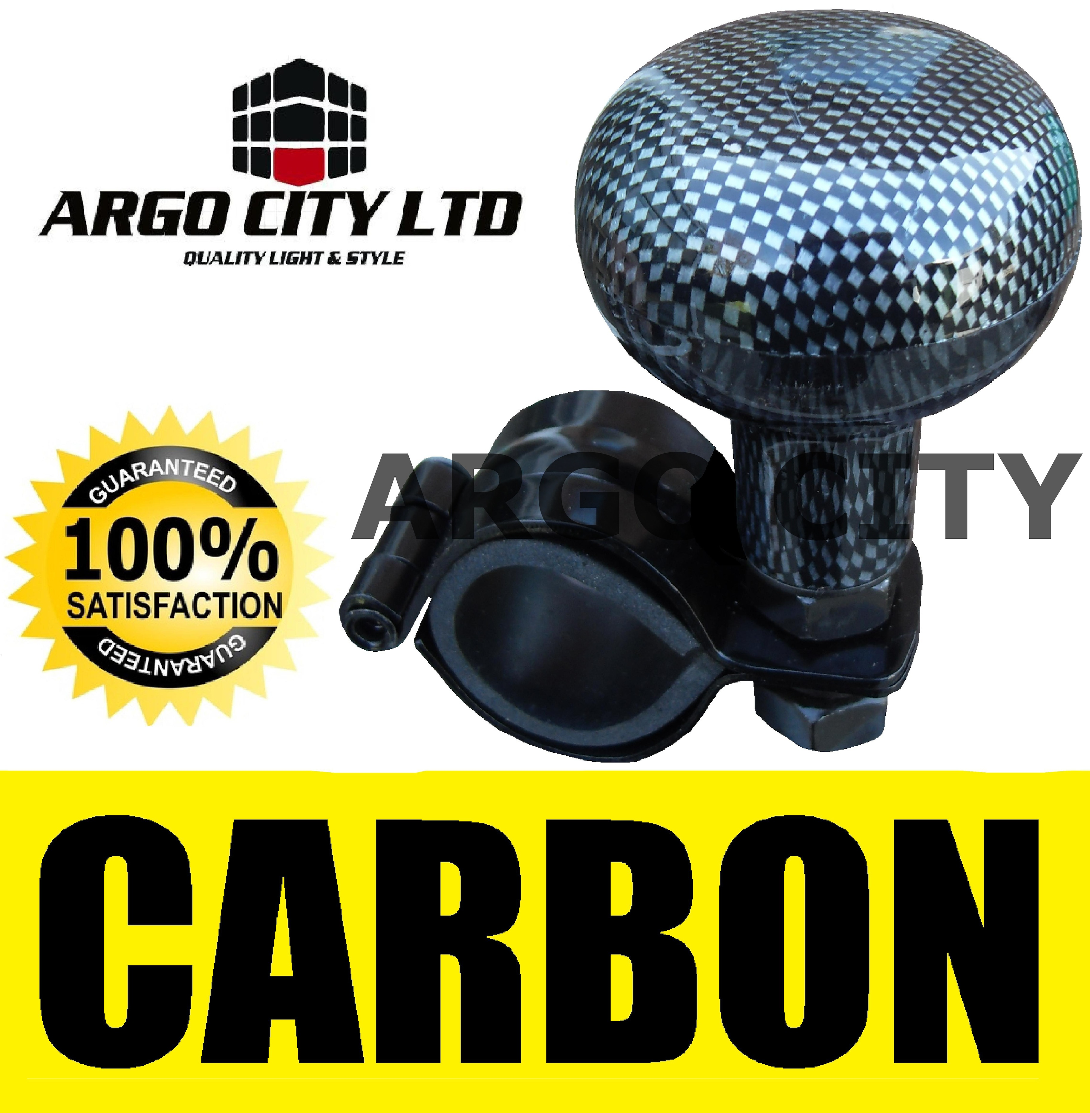 CARBON BLACK STEERING WHEEL KNOB AID ASSISTER CAR VAN MITSUBISHI ASX CROSSOVER