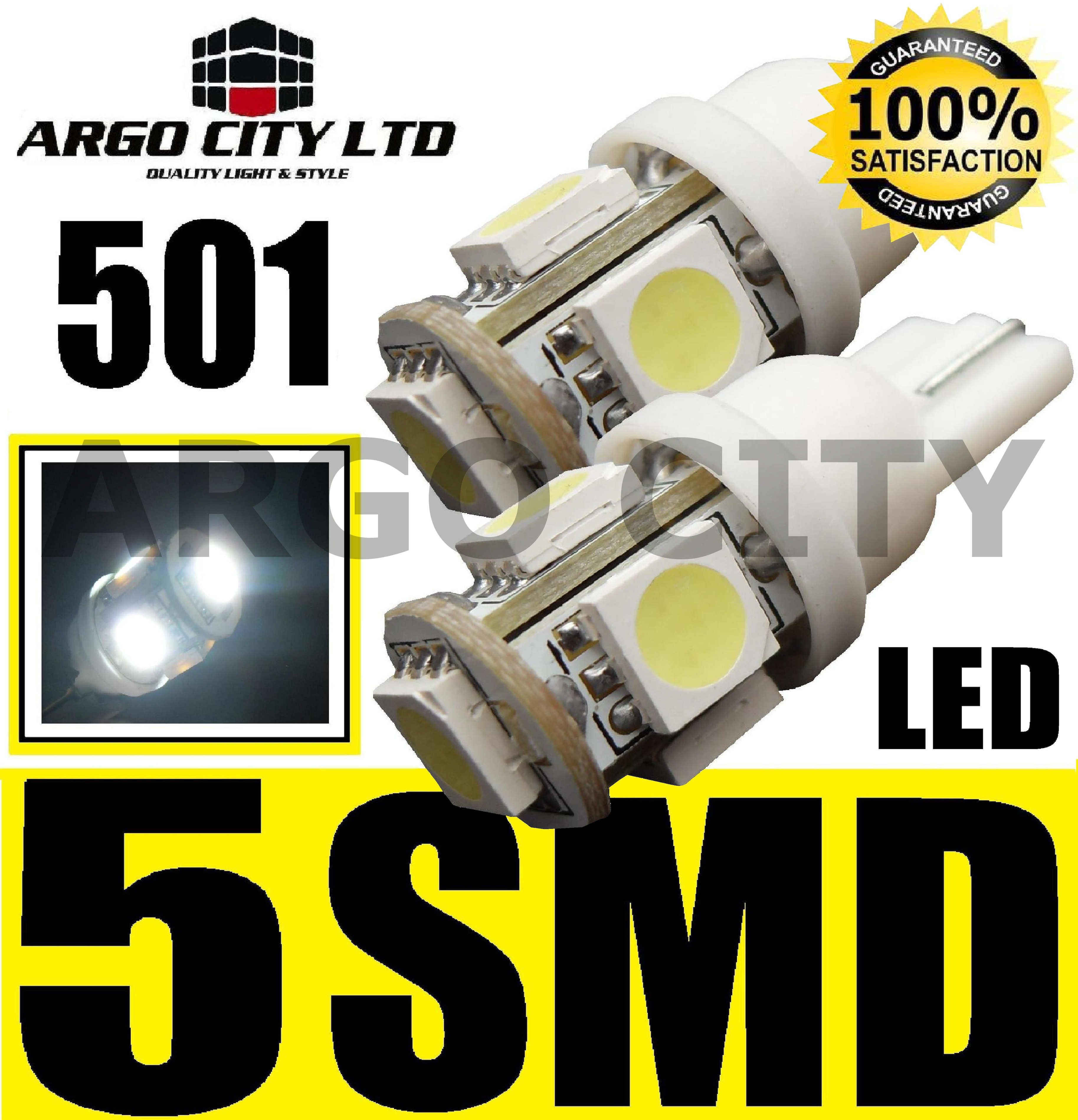 501 5 SMD LED WHITE BULBS SMART ROADSTER COUPE PULSE