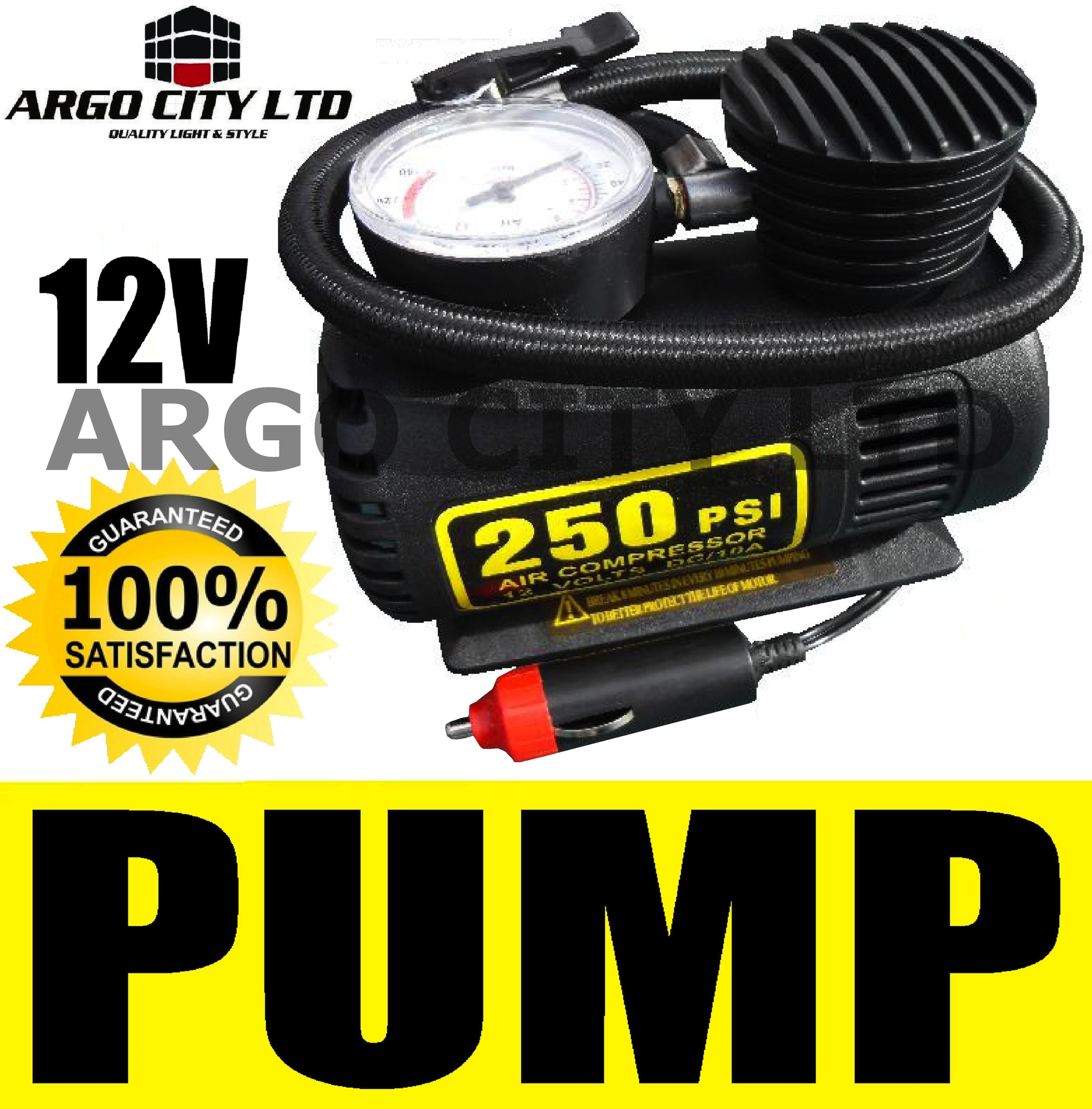 NEW 250PSI AIR COMPRESSOR INFLATOR PUMP CAR TYRE BALL