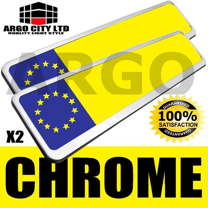 2 CHROME NUMBER PLATE HOLDERS DODGE JOURNEY NITRO