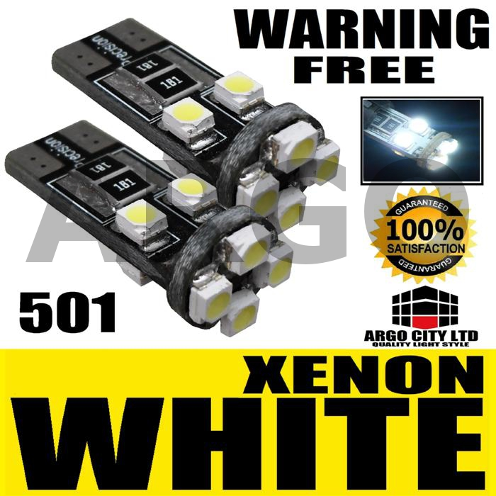 501 8 LED WHITE SIDELIGHT BULBS FIAT STILO MULTIPLA SX