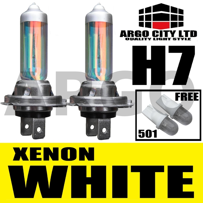 H7 XENON SUPER WHITE 499 HEADLIGHT BULBS 12V MASERARTI 3200 GT