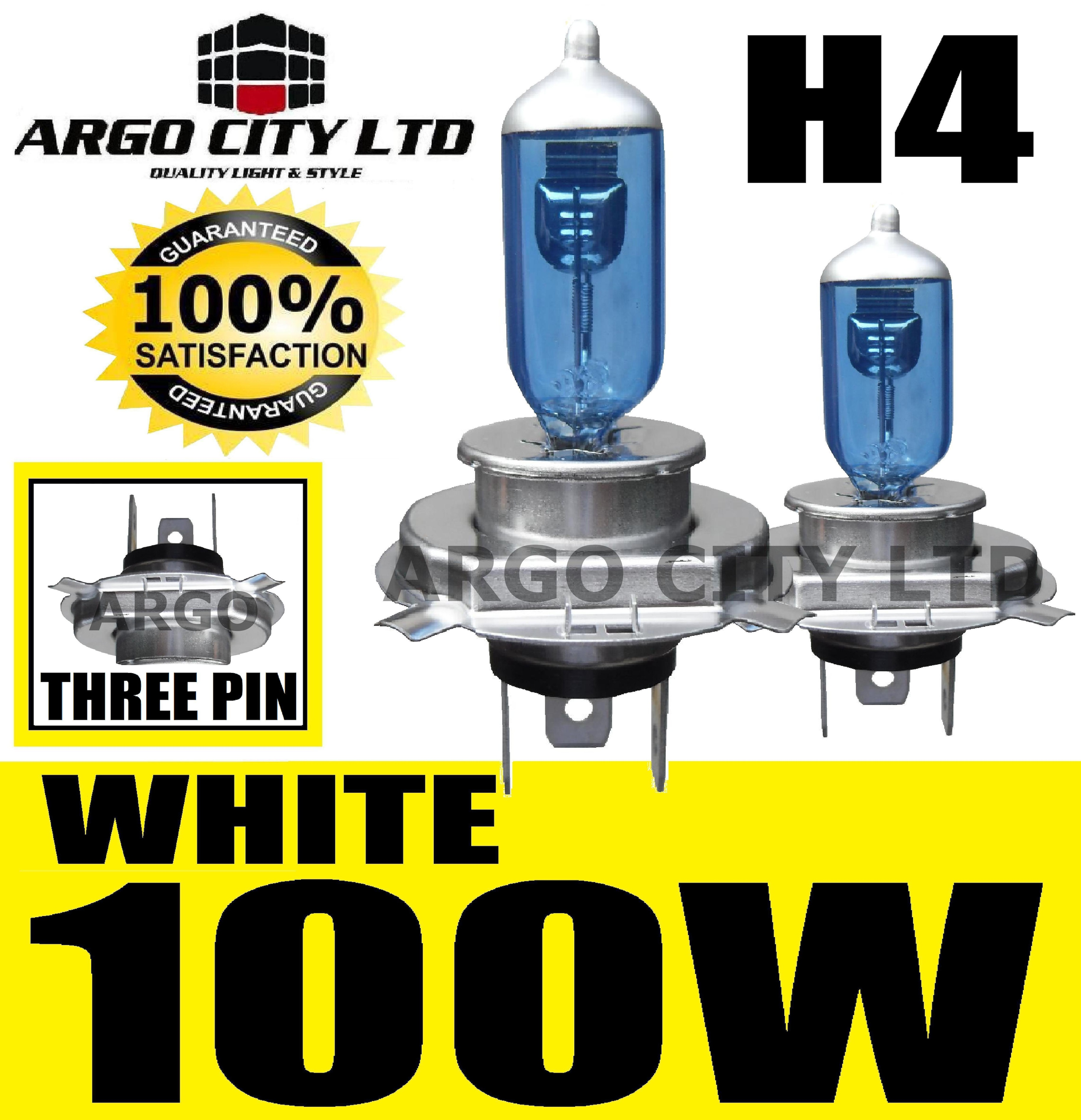 H4 XENON WHITE 100W 472 HEADLIGHT BULBS HARLEY DAVIDSON FXSTD 1450 Deuce