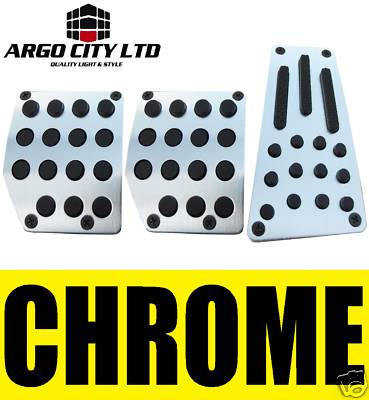 CHROME CAR FOOT COVERS PEDALS HONDA INSIGHT JAZZ