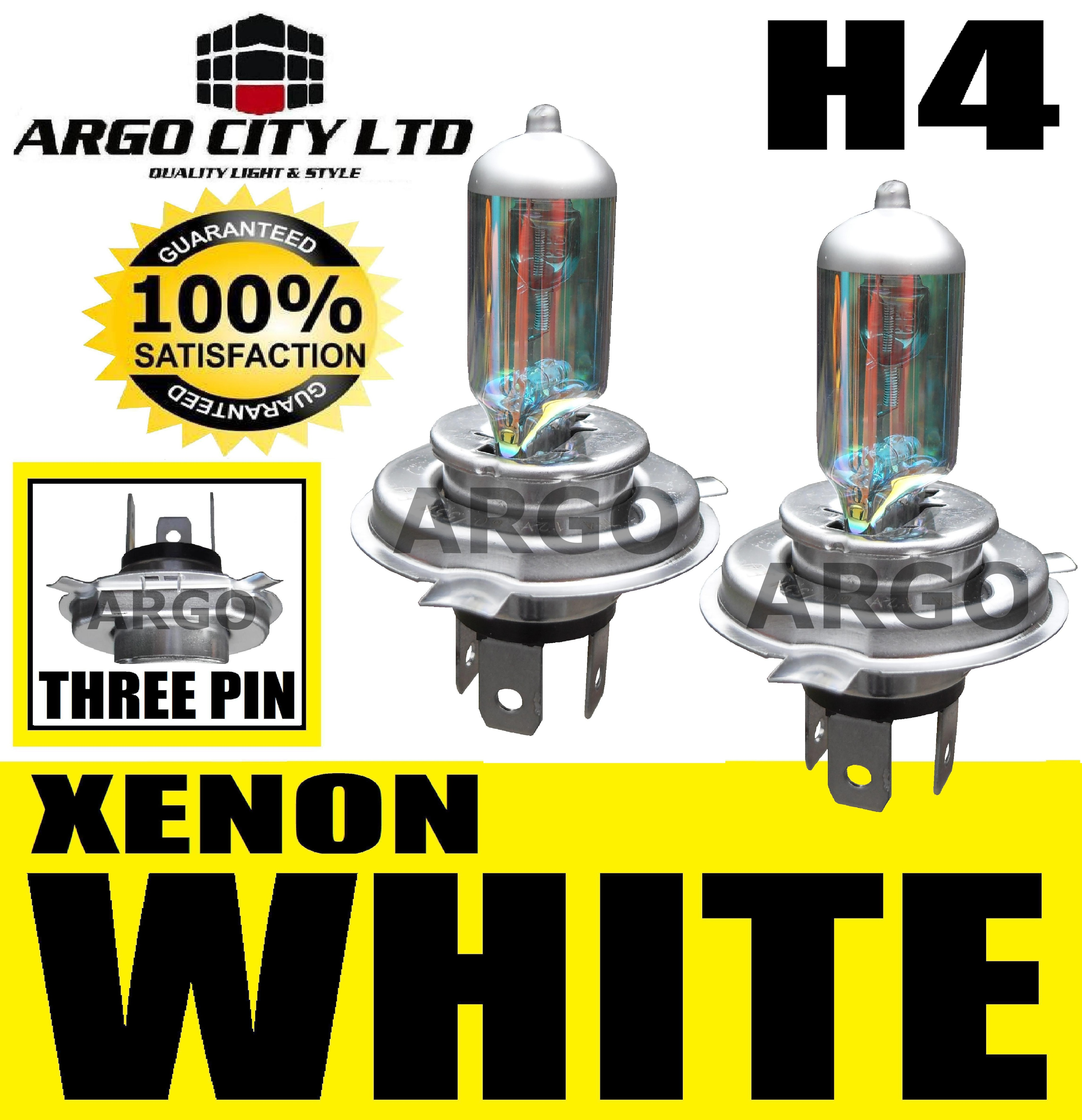 H4 XENON WHITE 55W 472 HEADLIGHT BULBS DAIMLER DAIMLER SOVEREIGN 4.0