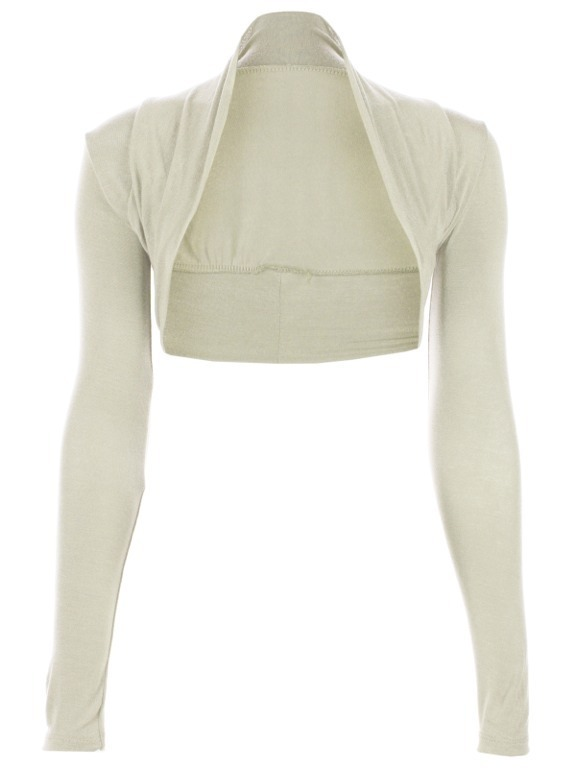 Womens-Viscose-Cropped-Plain-Shrugs-Ladies-Shrug-Size-UK-8-14