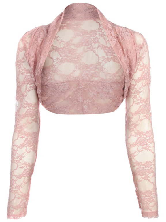Womens-Cropped-Lace-Shrug-Ladies-Bolero-Size-UK-8-16