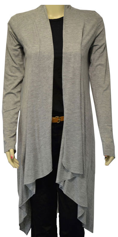 WOMENS WATERFALL CARDIGAN LONG SLEEVE LADIES BOLERO ONE SIZE | eBay