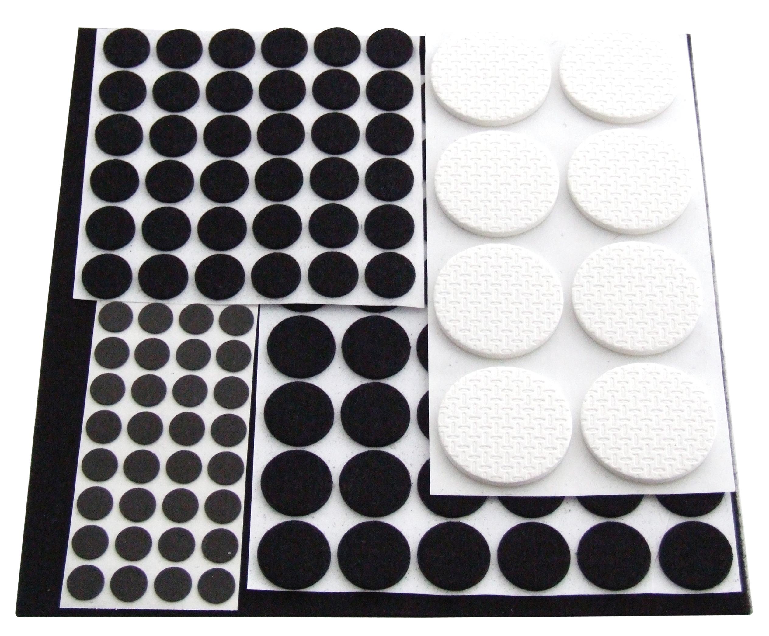 125 Anti Skid Rubber Felt Pads Furniture Protector Feet Multi Surface Wood Metal Ebay