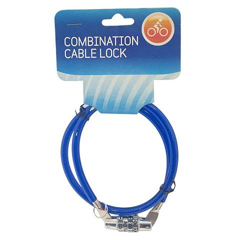 COMBINATION SPIRAL STEEL BIKE LOCK | BICYCLE CHAIN CABLE 70cm x 8mm