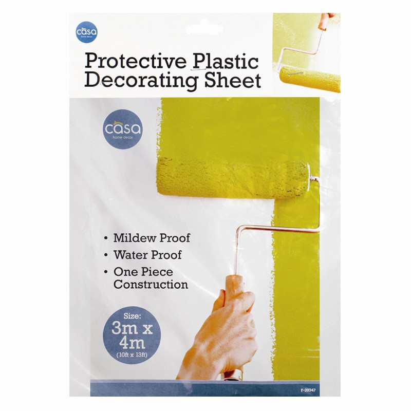 dust sheet for painting decorating paint polythene. Black Bedroom Furniture Sets. Home Design Ideas