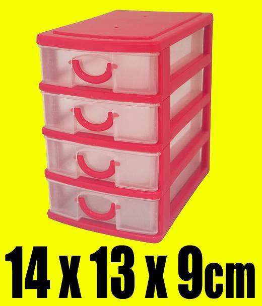 4 cajones escritorio peque os bandejas almacenamiento - Organizador cajon oficina ...