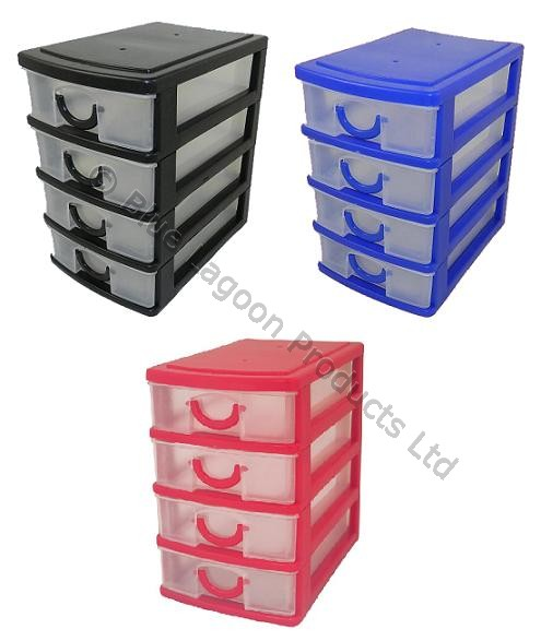 aufbewahrungsboxen 4 mit schublade mini f r schreibtisch schmuck basteln ebay. Black Bedroom Furniture Sets. Home Design Ideas