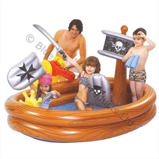 Pirate ship adventure play pool water cannon inflatable - Inflatable pirate ship swimming pool ...