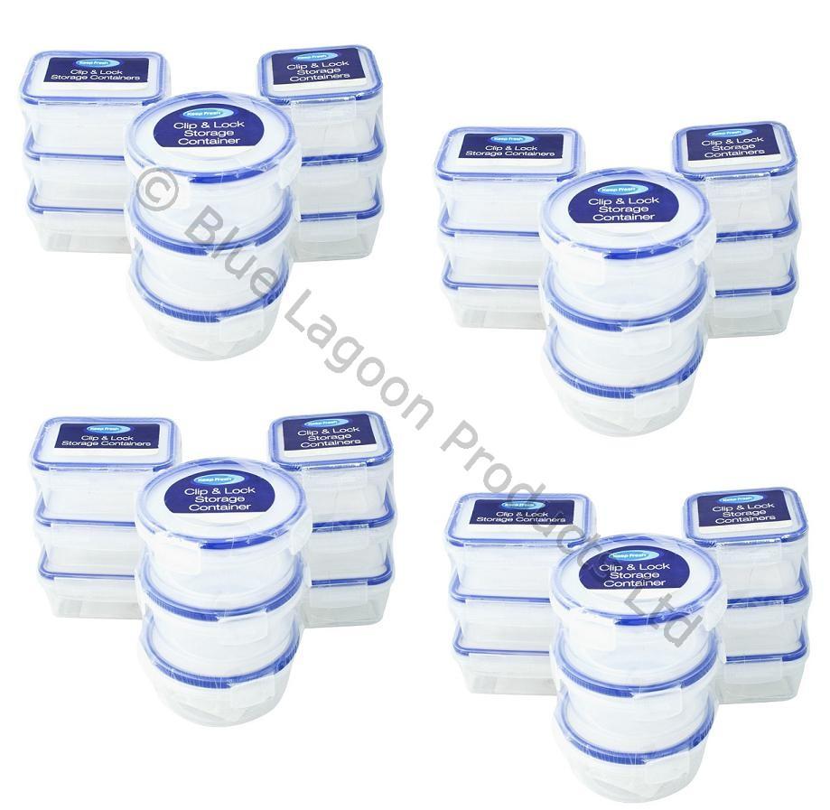 36 x 200ml mini storage boxes plastic kitchen container