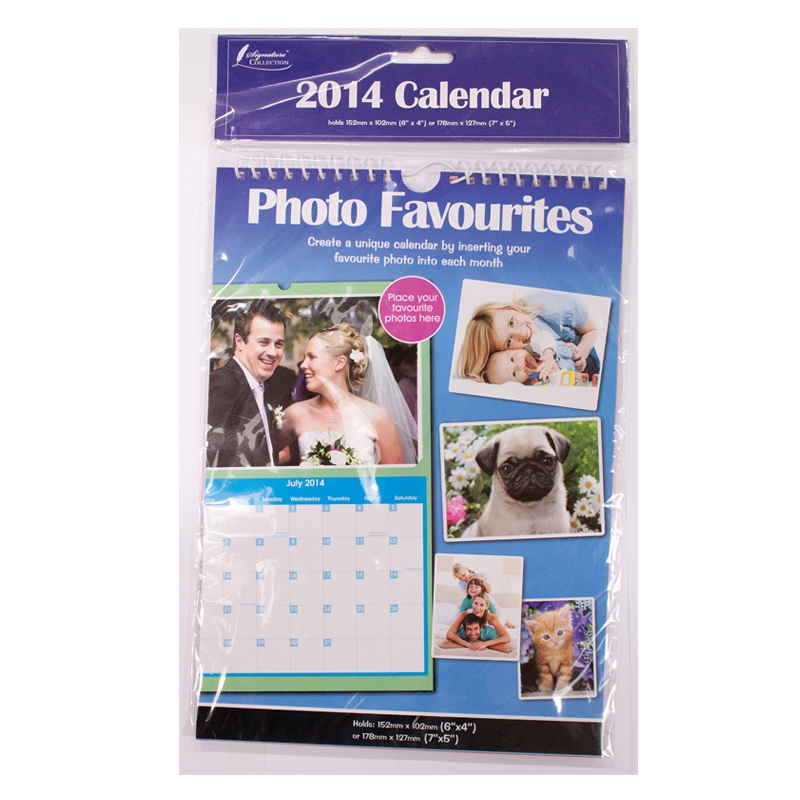 PERSONALISE Your Calendar 2014 with Your Own Photos Each Month Calender