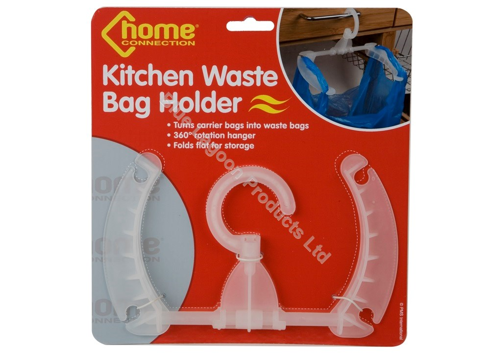 Kitchen Waste Basket Holder: KITCHEN WASTE BAG HOLDER HANGING RUBBISH TRASH CARRIER BIN