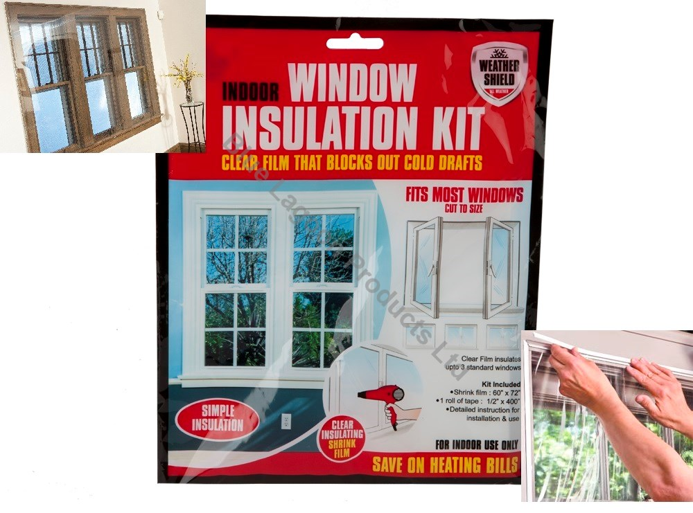 window shield home heating draught insulation kit excluder double glazing film ebay. Black Bedroom Furniture Sets. Home Design Ideas