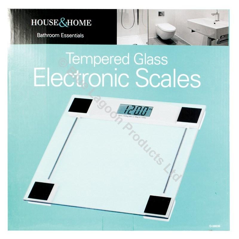 Digital Glass Bathroom Scales Weighing Kilograms Stones