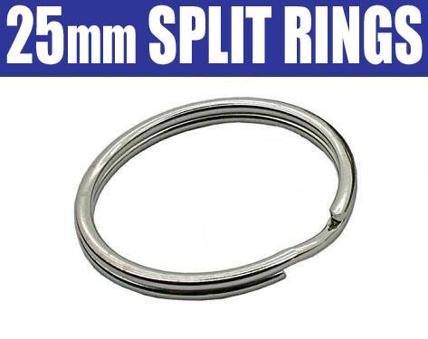 25mm Split Rings / Key Rings / O Rings - ANY QTY