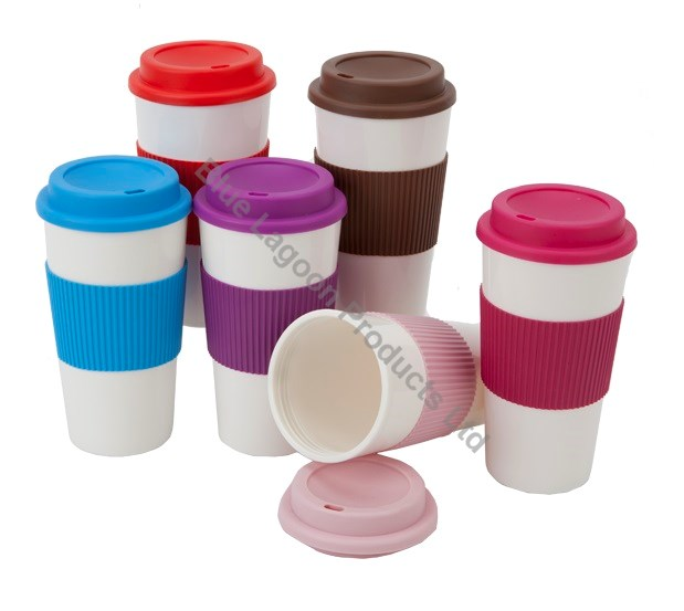 Red 450ml 16oz Thermal Insulated Double Wall Cup Tea