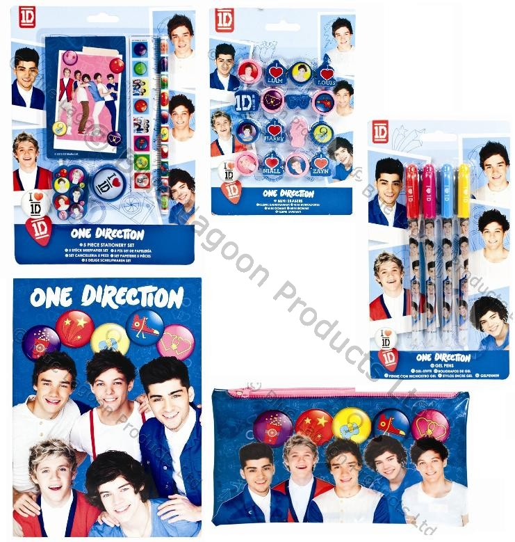 One Direction 1D Stationery Kit Bundle School College Pencil Case Pens Notepad