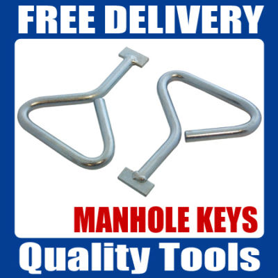 2pc MANHOLE COVER KEYS LIFTER | DRAIN LID LIFTING KEY