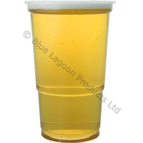 Clear marked strong plastic pint half 1 2 disposable beer for How strong is acrylic glass
