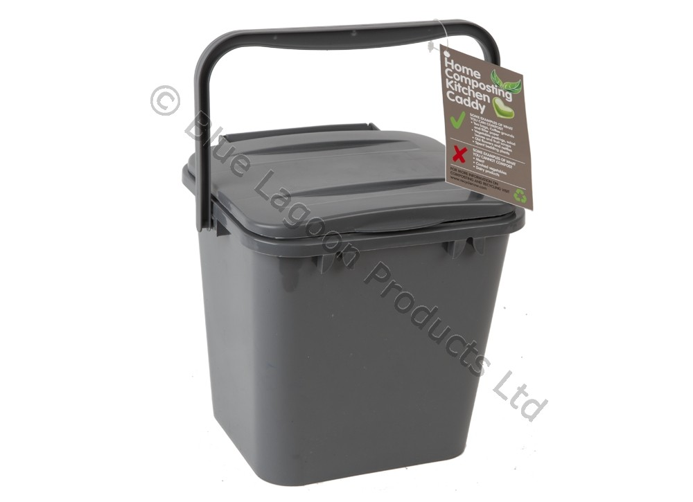 5l kitchen compost caddy bin eco food waste biodegradable bucket scrap