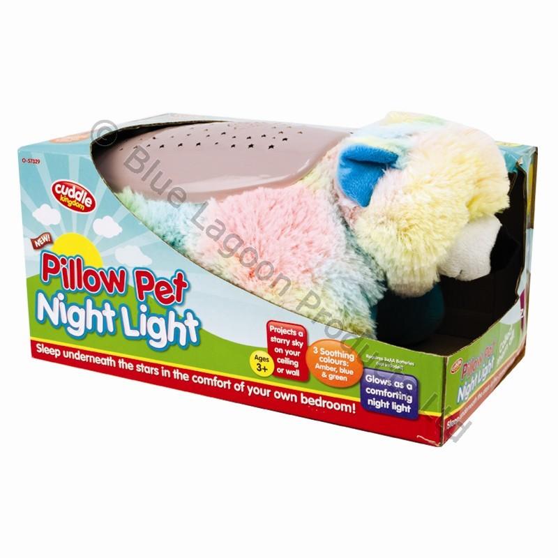 Dream Lites Kids Toy Teddy Cuddle Night Light Animal Pillow Cushion Cuddly Pet eBay