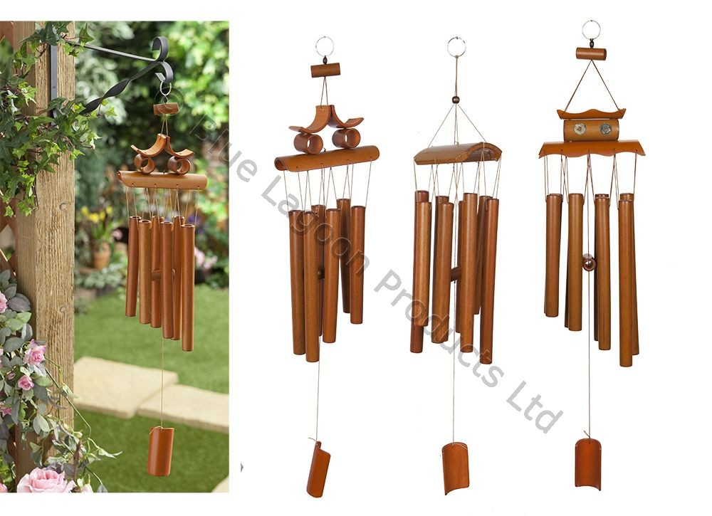 67cm hanging bamboo wind chime decorative outdoor ornament for Outside house ornaments