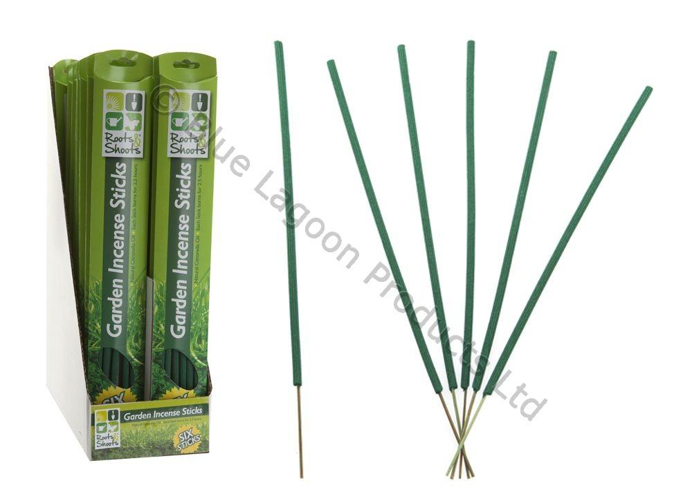 6pc Garden Incense Sticks Natural Oil Citronella