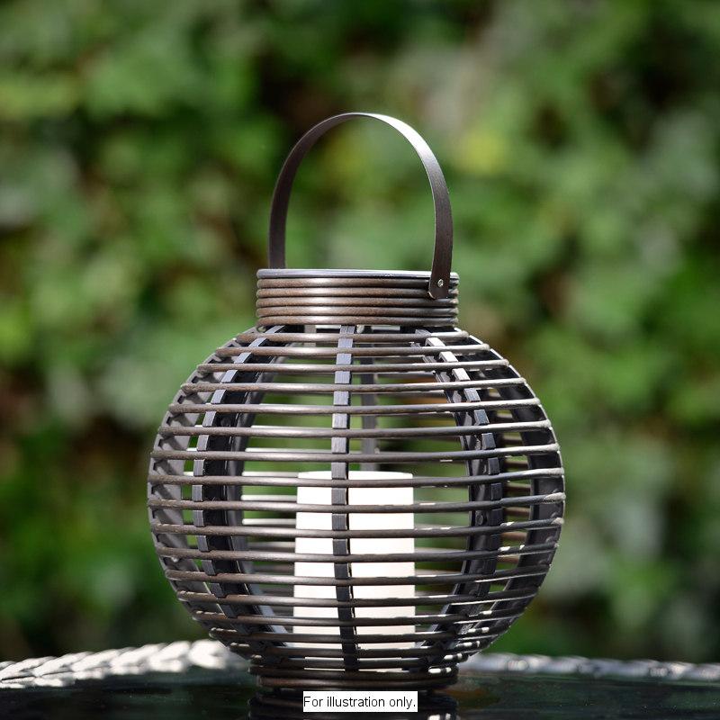 Rotin Effet Led Solaire Bougie Lampe De Table Jardin