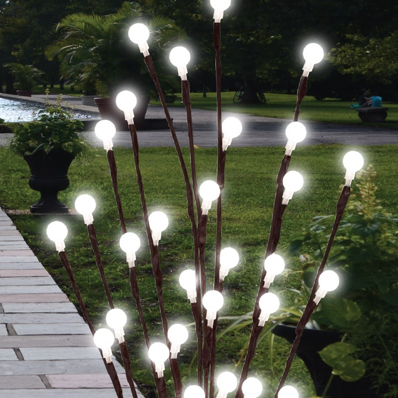 2 X 60cm Garden Led Twig Lights Solar Tree Lights Decor Lighting Outdoor Lamp Ebay