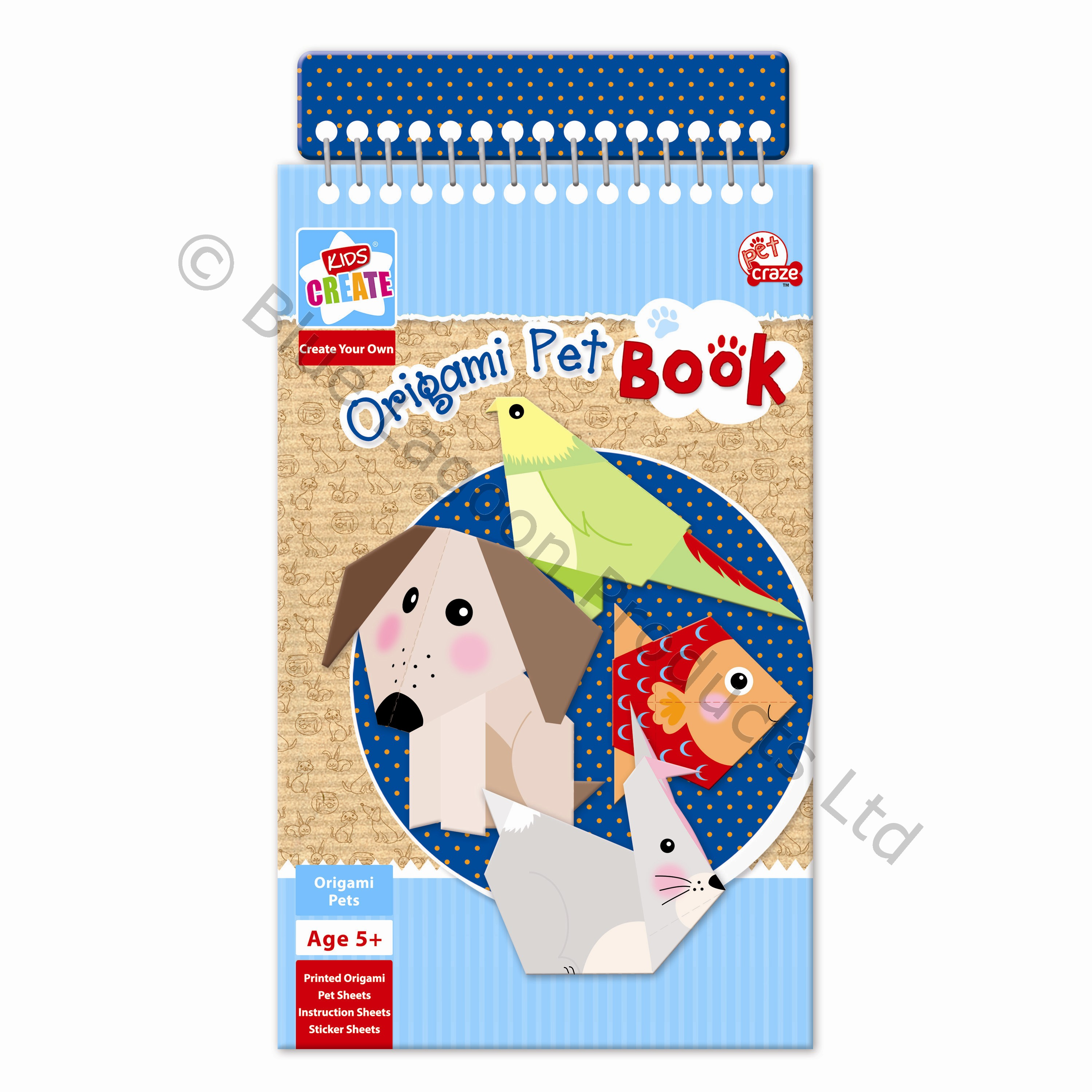 Childrens Origami Pet Book Including Instruction & Sticker ... - photo#4