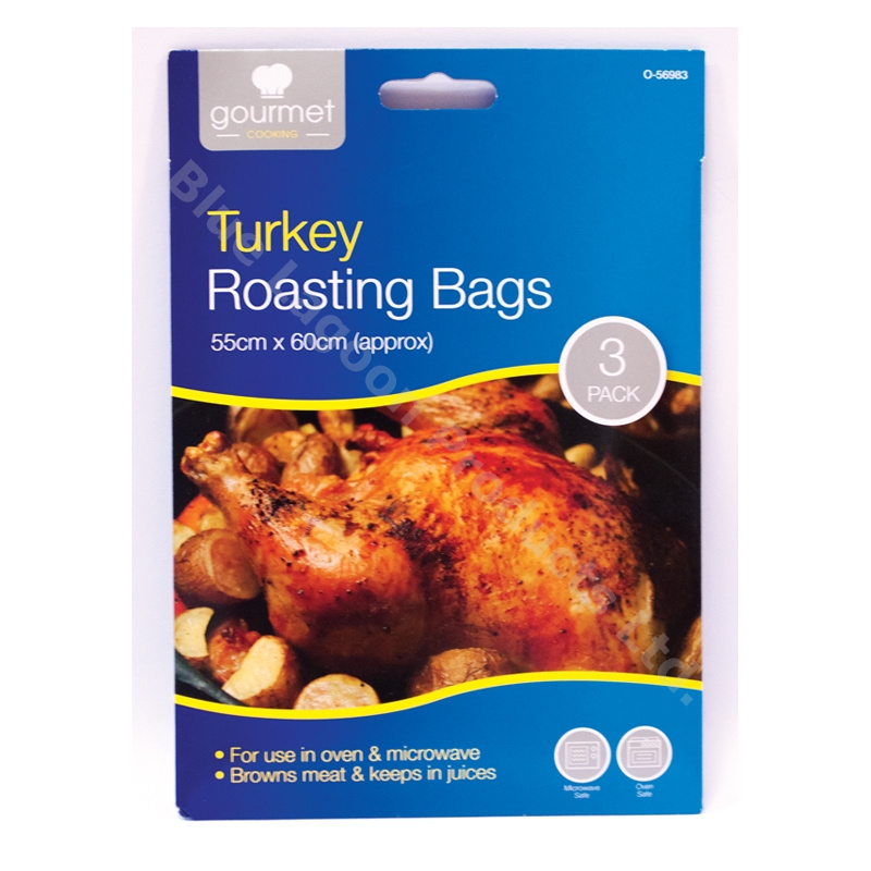 Roasting Microwave Oven: 3 X LARGE Turkey Chicken Roasting Bags Oven Microwave 55cm