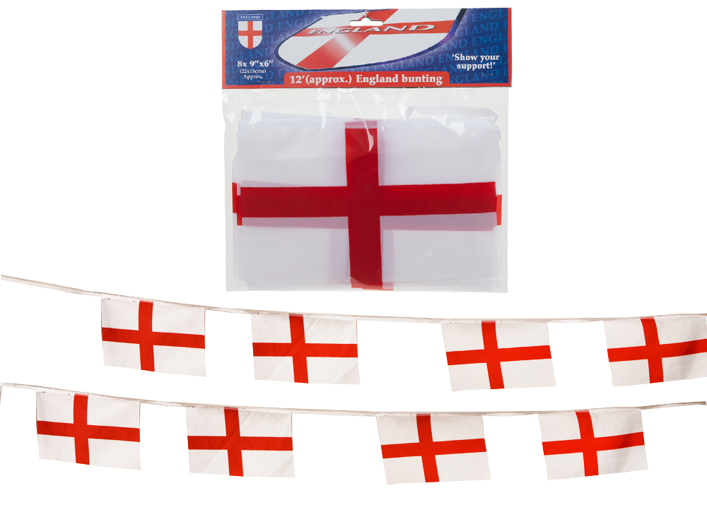 3.6 Metre of ENGLAND BANNER NATIONAL BUNTING BRITISH GB FLAG QUALITY FOOTBALL