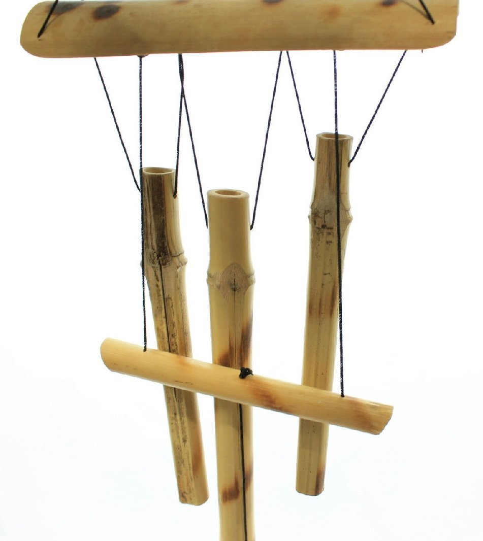 """23"""" Hanging Bamboo Wooden Wind Chimes Tubes Outdoor Bells"""