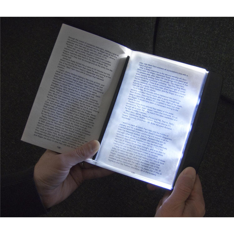 3 super bright led slim page reading light night book lamp. Black Bedroom Furniture Sets. Home Design Ideas